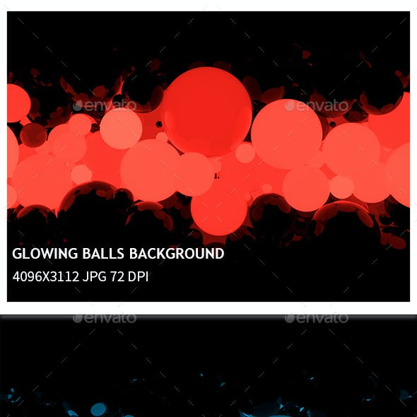 Glowing Balls Background