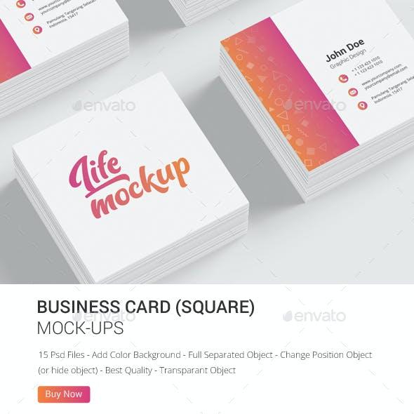 Business Card Square Mockup