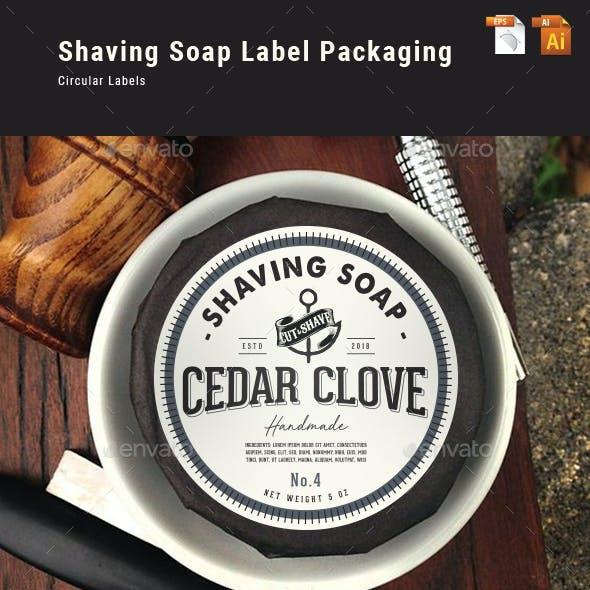 Shaving Soap Label Packaging