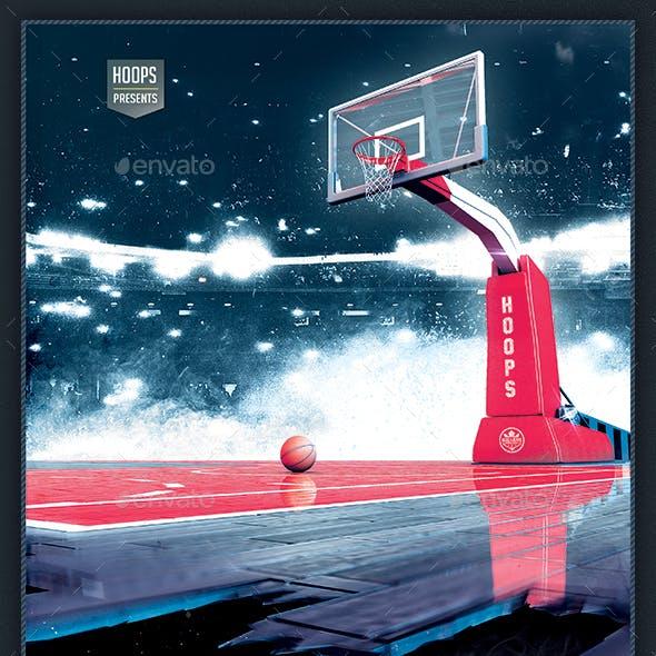 Basketball Flyer - Game 7 Hoops Tournament 8.5x14 Design Template