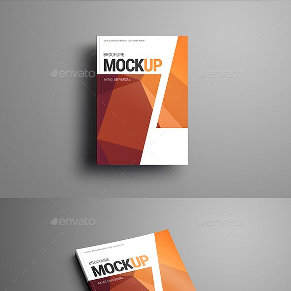 19 Mockups of the Brochure, Catalog Format A5 and A4