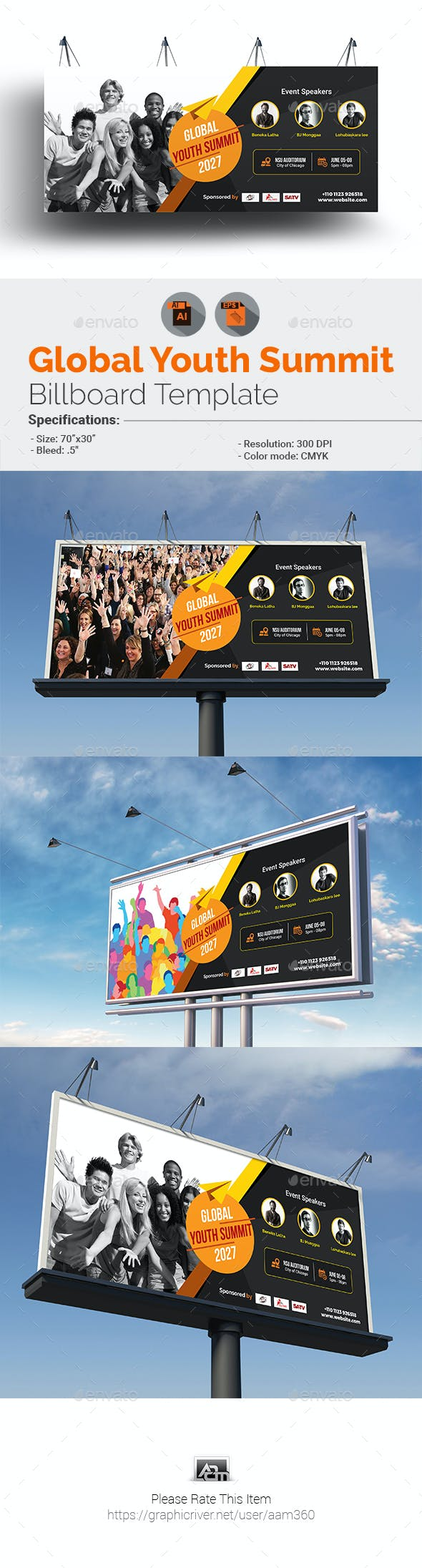 Global Youth Summit Billboard Template