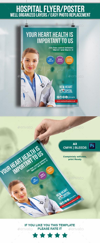 Hospital Flyer&Poster - Flyers Print Templates