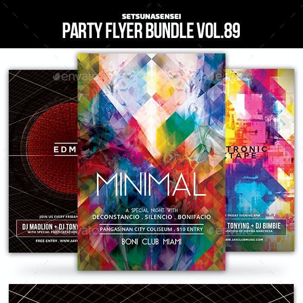 Party Flyer Bundle Vol.89