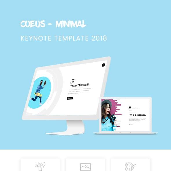 Coeus - Minimal & CLean Keynote Template 2018