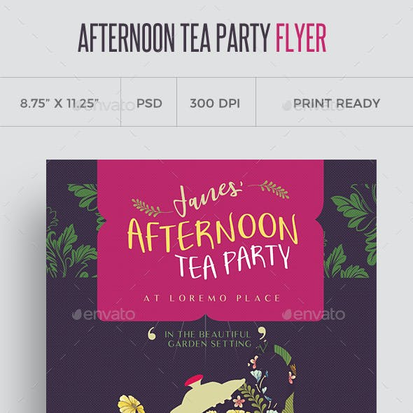 Afternoon Tea Party Flyer Template
