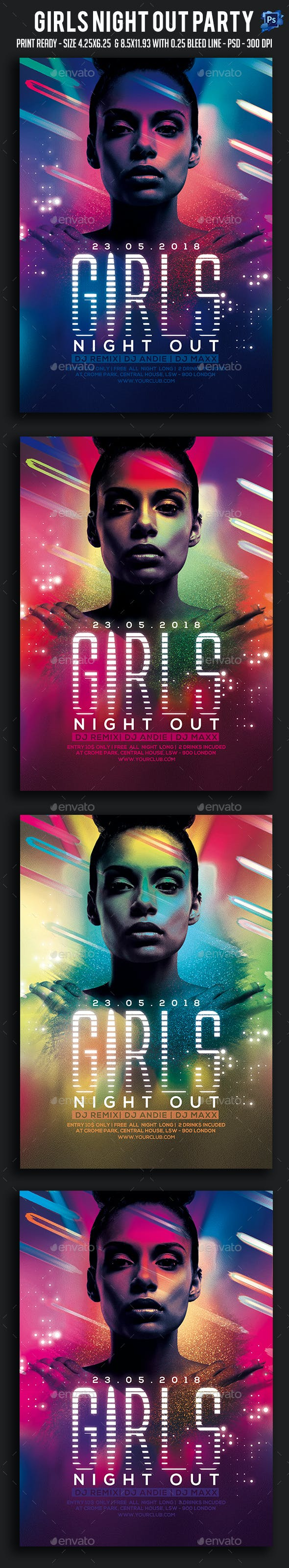 Girls Night Out Party Flyer