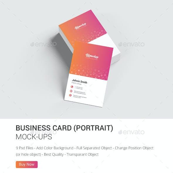 Business Card Portrait Mockup