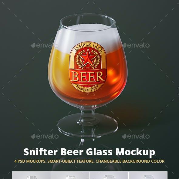 Beer Glass Mock-up - Snifter