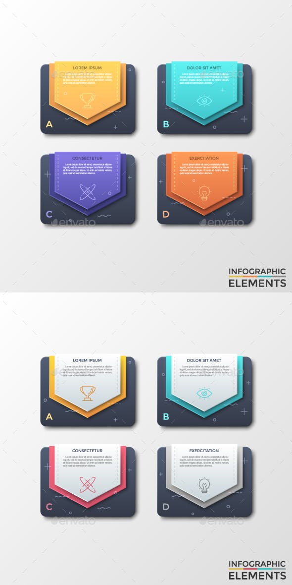 Modern Infographic Stickers Template (2 Styles)