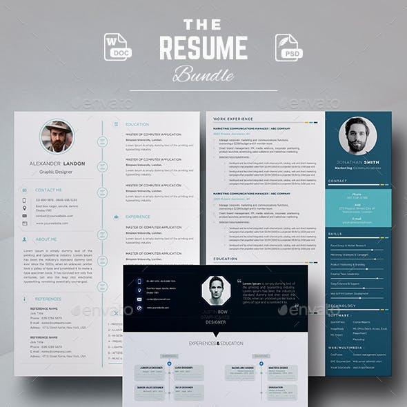Bundle - Professional Resume Template / CV