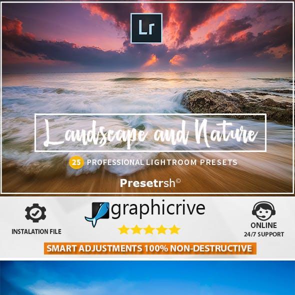 25 Pro Landscape and Nature Lightroom presets