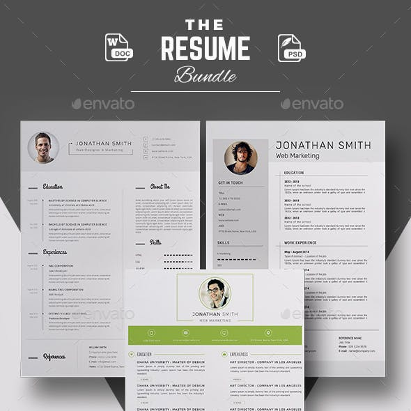 Bundle Resume Template for Word