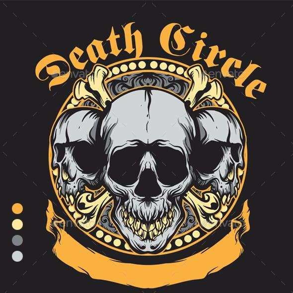 Skull Death Circle Design