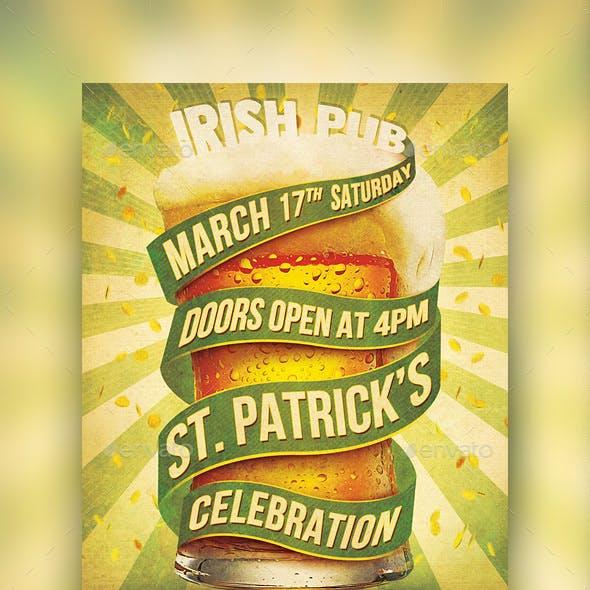 St. Patrick's Retro Flyer