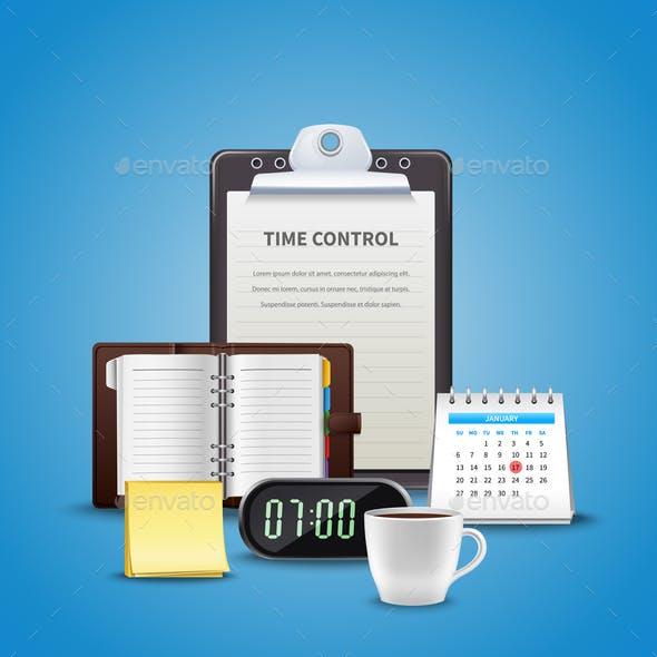 Time Management Realistic Concept