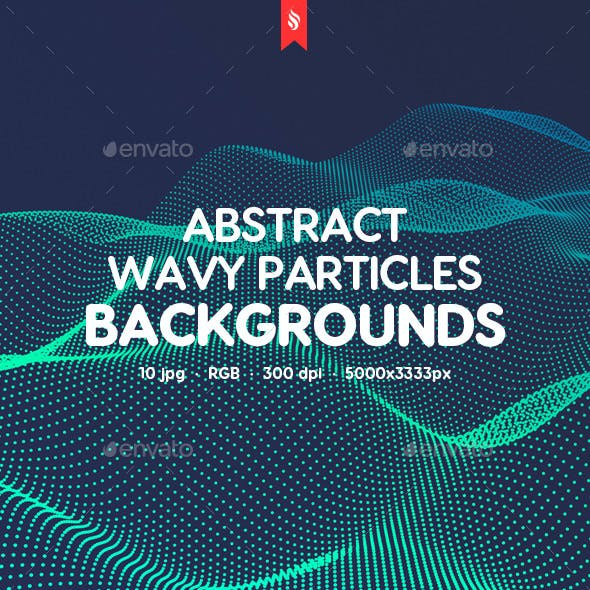 10 Different Dynamic Wavy Particles Backgrounds