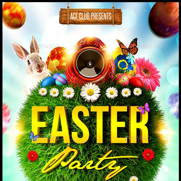Easter Party Flyer