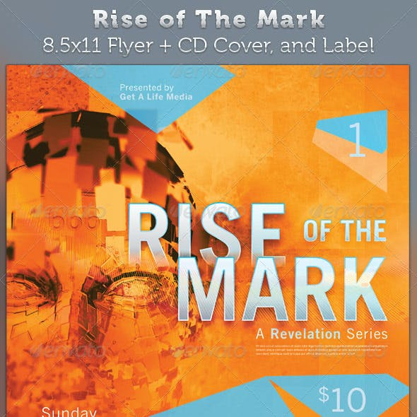 Rise of The Mark Full Page Flyer and CD Cover