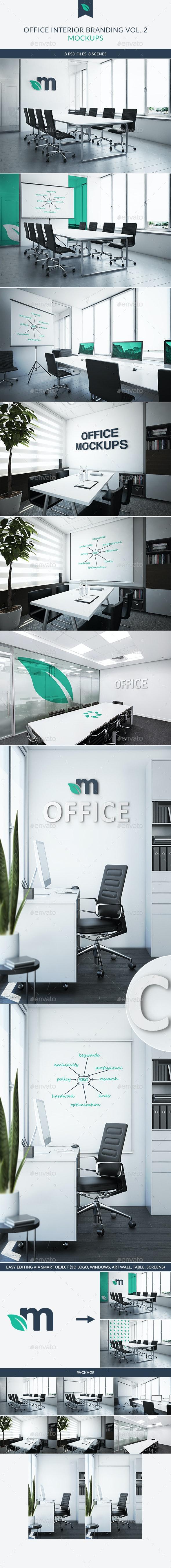 Office Interior Branding Mockups Vol.2 - Logo Product Mock-Ups