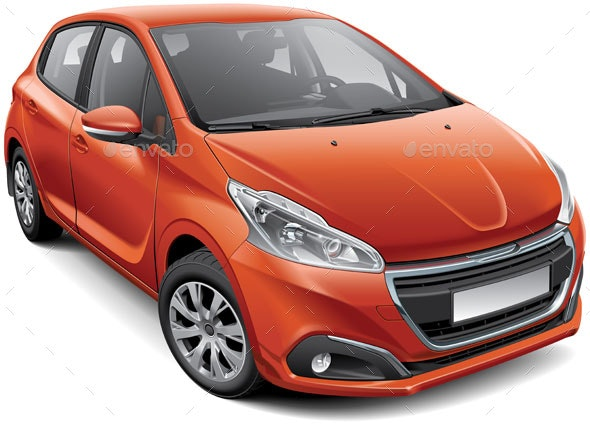 French Compact Hatchback - Man-made Objects Objects