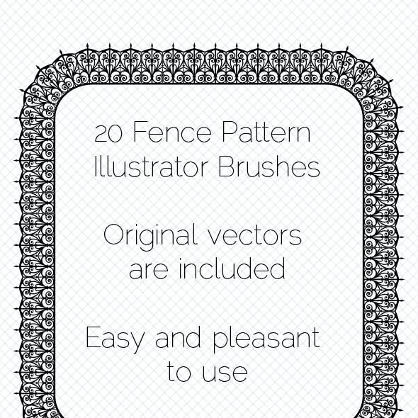 20  Fencing Pattern Adobe Illustrator Brushes