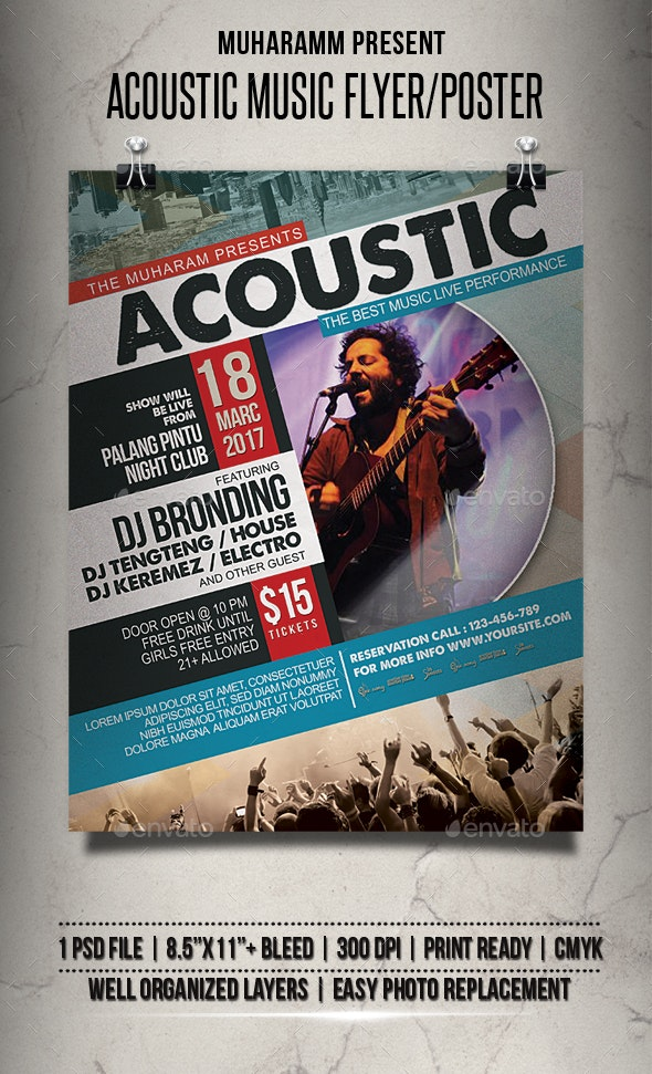 Acoustic Music Flyer / Poster - Events Flyers
