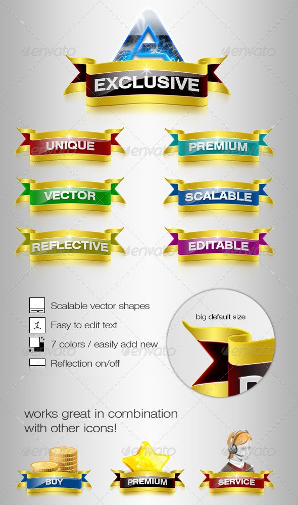 Exclusive Web Ribbons - Miscellaneous Web Elements
