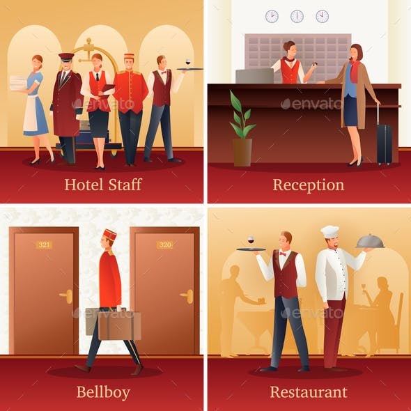 Hotel People Flat Compositions