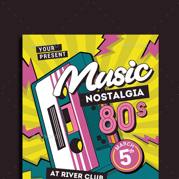 80's Music Event Flyer