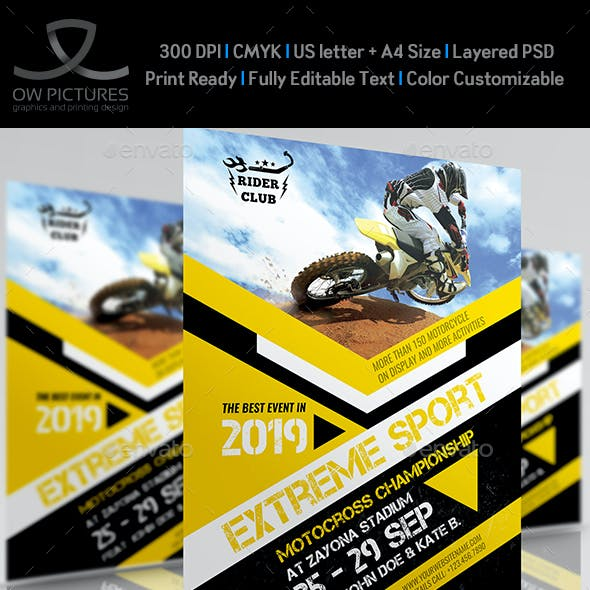Extreme Sport Flyer Template