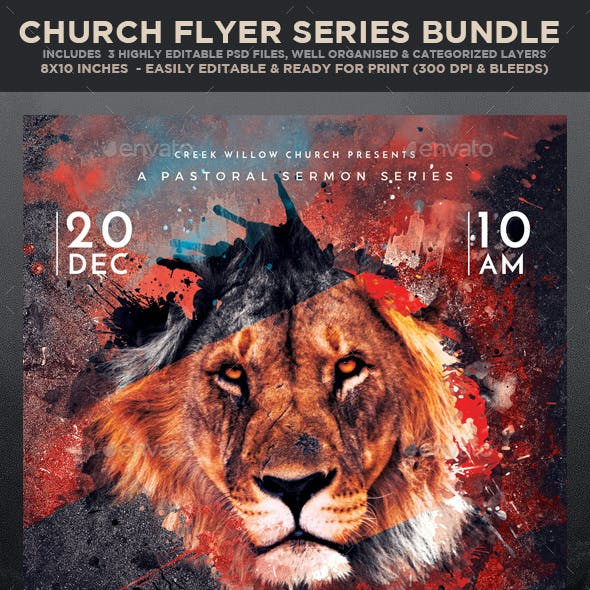 Church/Christian Themed Flyer Bundle