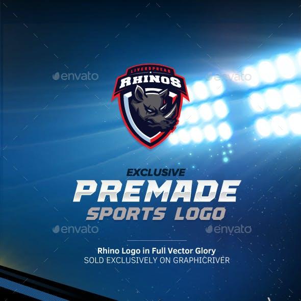 Rhinos Esports Mascot Logo