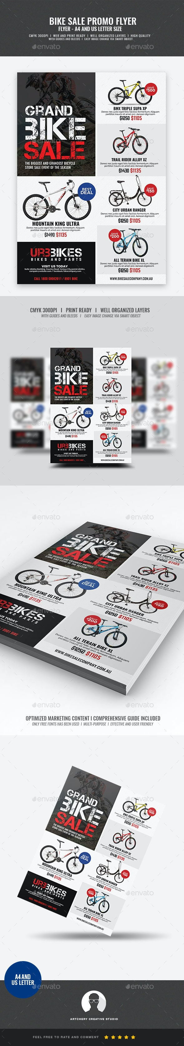 Bicycle Shop Promo Flyer - Commerce Flyers