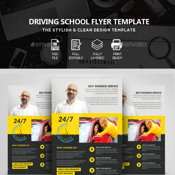 Driving Classes & Lesson Flyer