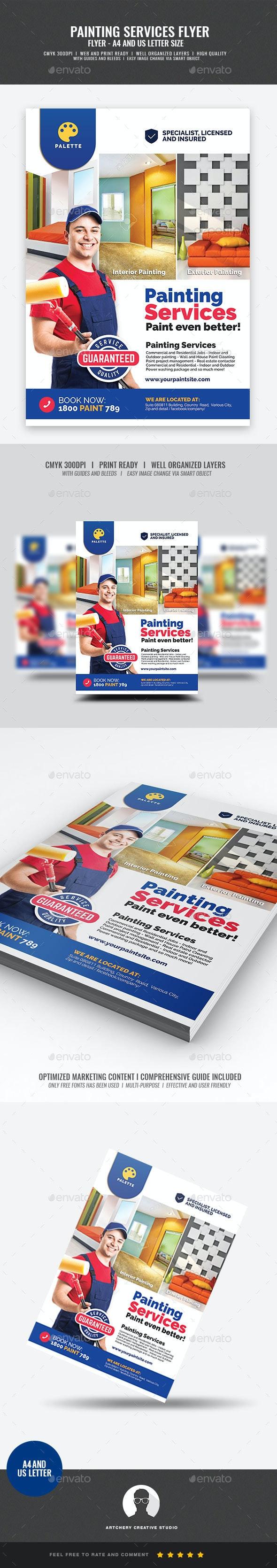 Paint Company Promotional Flyer - Commerce Flyers