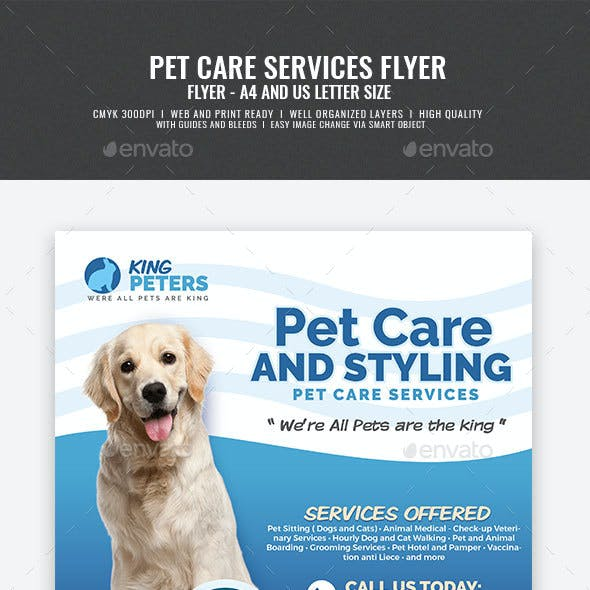 Pet Grooming and Care Service Flyer