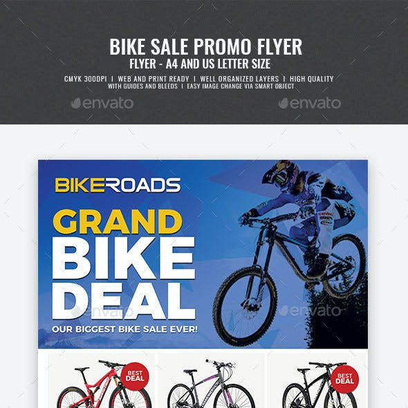 Bicycle Sale Promo Flyer