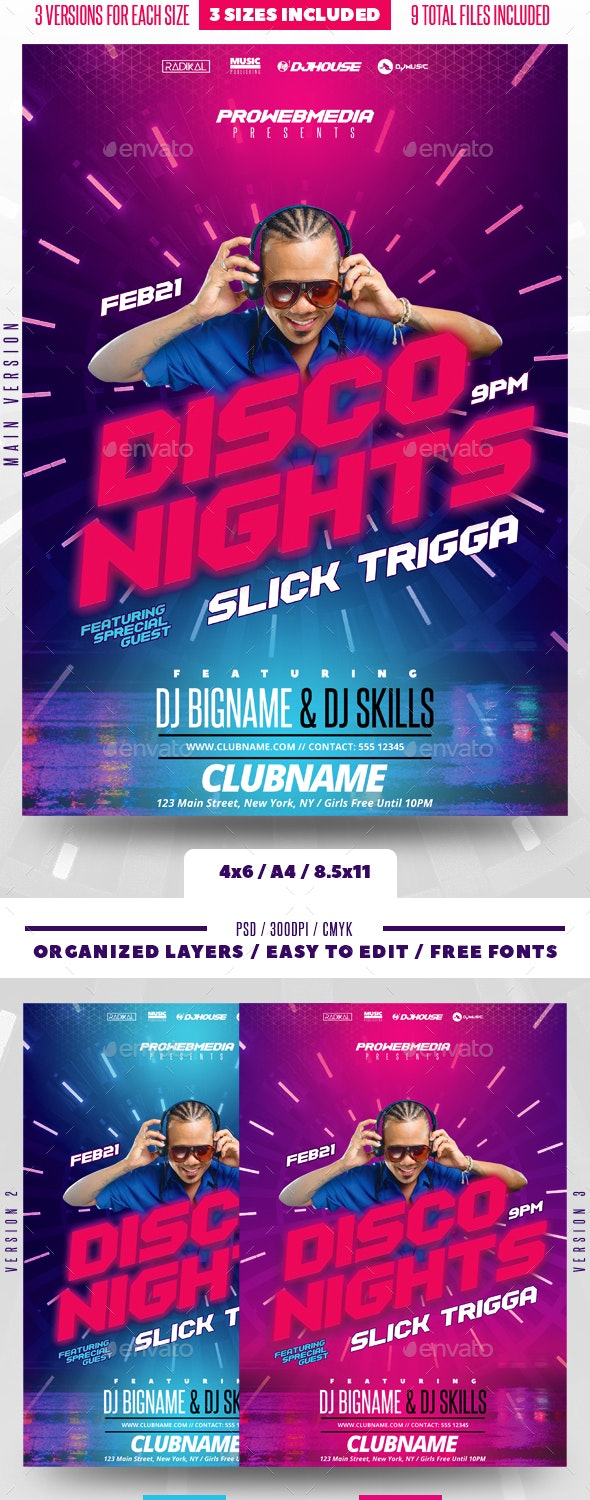 Party DJ Flyer - Clubs & Parties Events