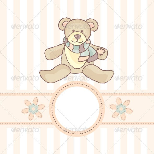 Card With Teddy Bear
