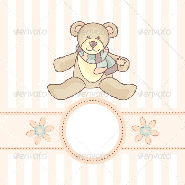 Card With Teddy Bear - Miscellaneous Characters