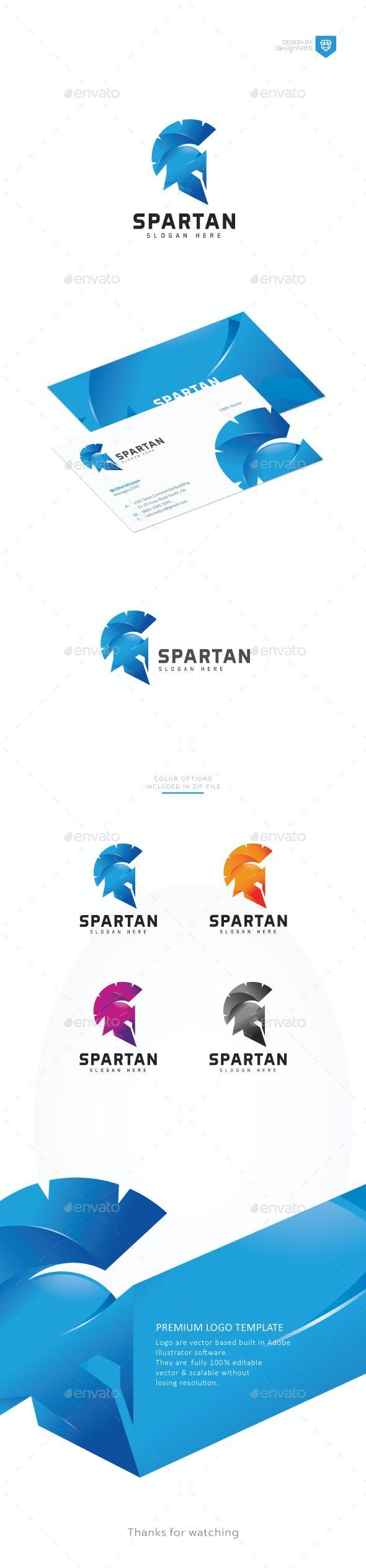 Centurion Spartan Helmet Logo