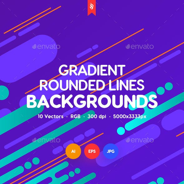Gradient Rounded Lines Backgrounds