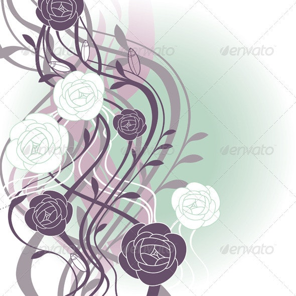 Cute Floral Card - Backgrounds Decorative