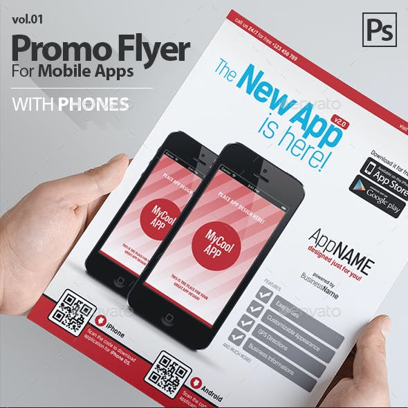 Mobile App Flyers Template