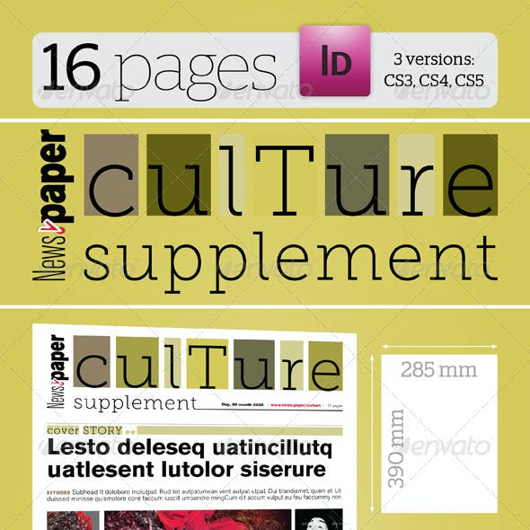 16 Pages Culture Supplement For News.paper
