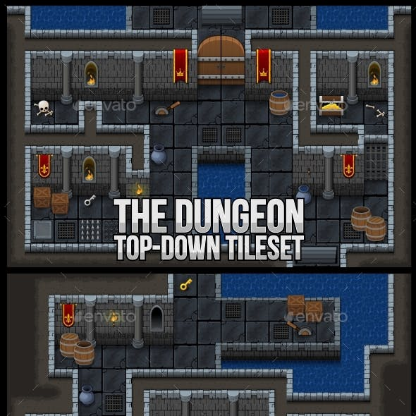 The Dungeon - Top Down Tileset