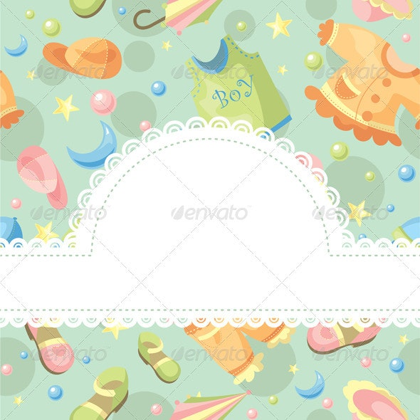 Abstract Baby Frame - Borders Decorative