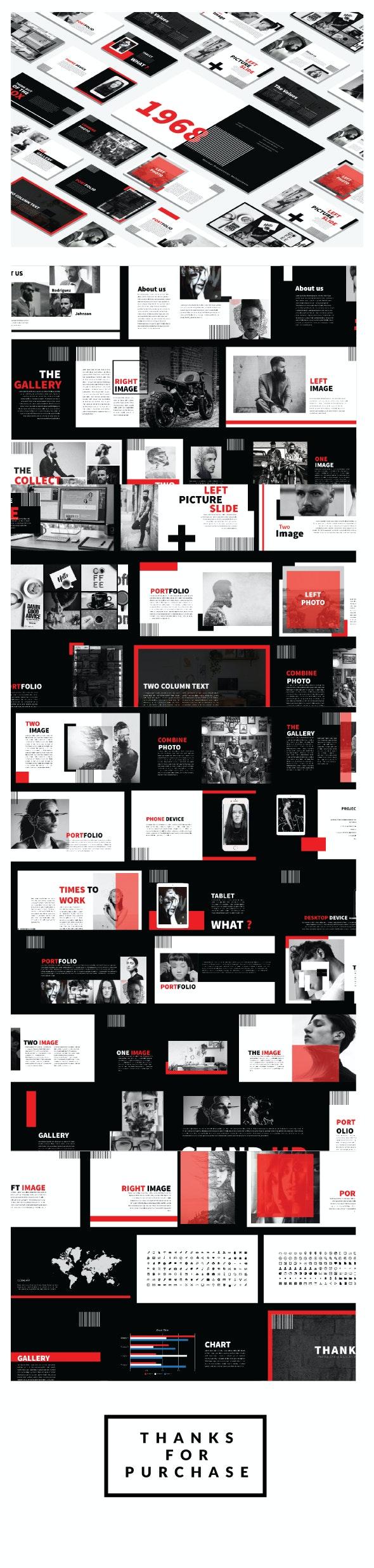 Black Minimal Keynote template - Creative Keynote Templates