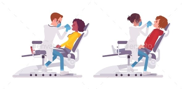 Male and Female Dentist Doctor